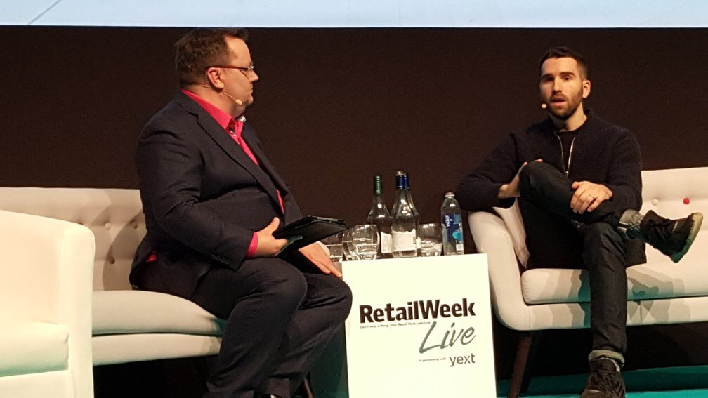 Declan Curry has a really interesting session with the founder of Thread, Kieran O'Neill, on how to use algorithms and big data to reach that most elusive of shoppers - men who hate buying clothes, at RetailWeek Live 2017.
