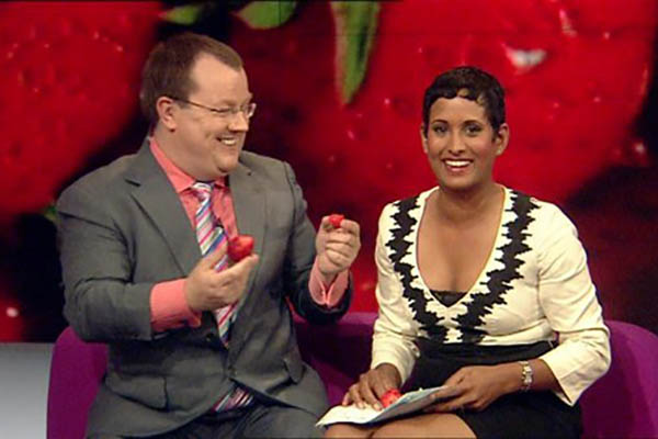 Breakfast on BBC1 Declan Curry and Naga Munchetty